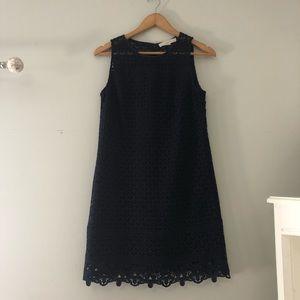Loft Navy Blue Lace Dress